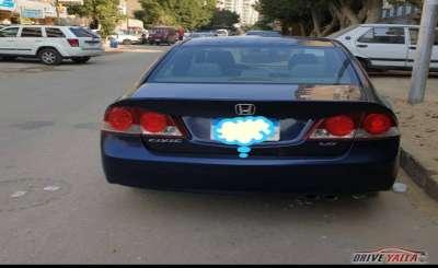 هوندا سيفك مستعملة  للبيع  فى مصر 2008